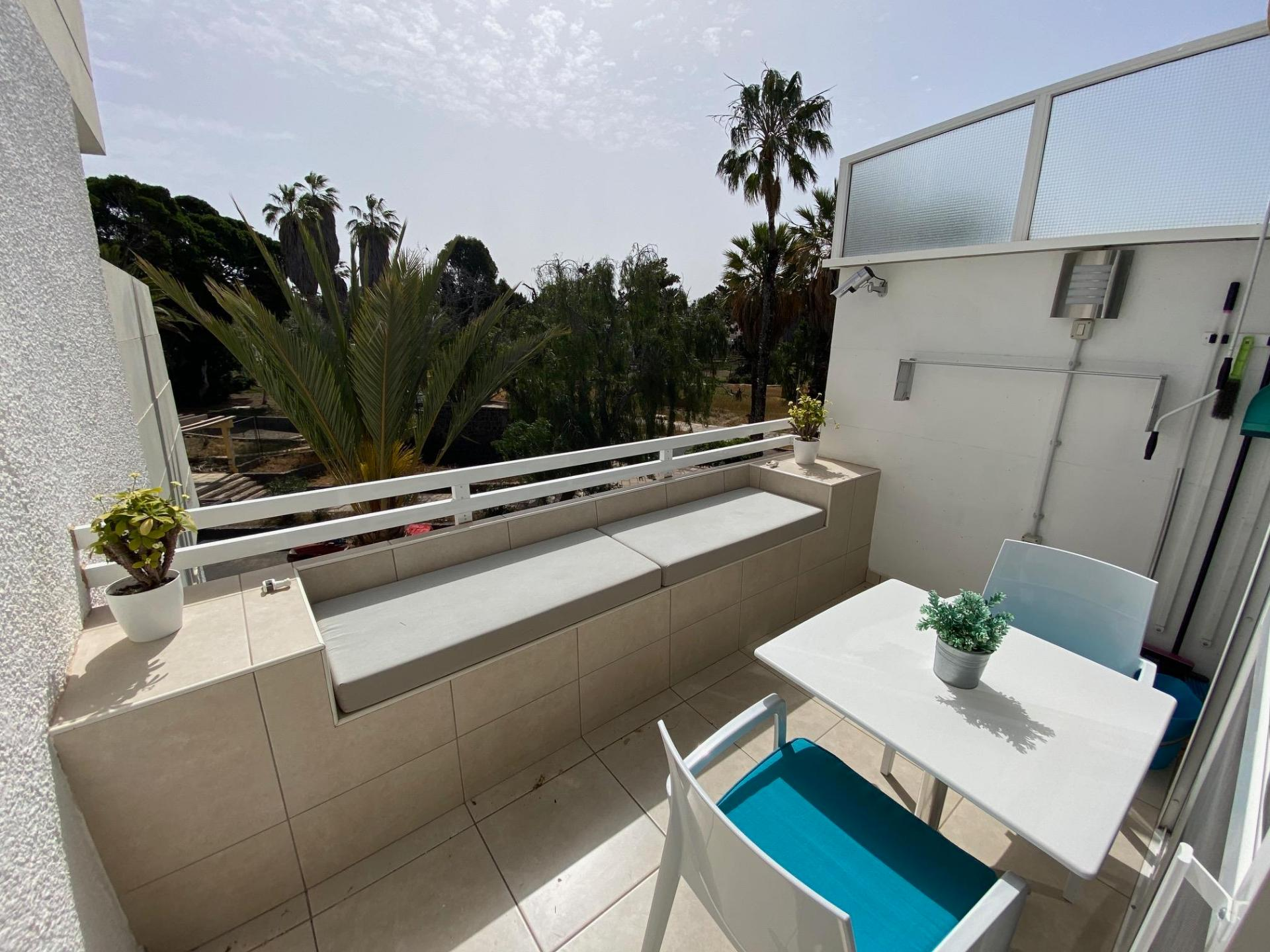 Very nice studio located on the 1st floor in Primavera, Costa del Silencio!The terrace of .... more info