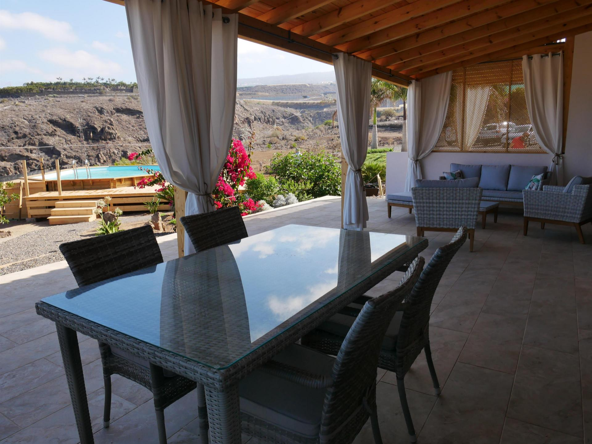 This beautiful country house offers you amazing views over the ocean and mountains. .... more info